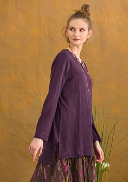 Linen knit fabric tunic lake
