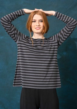 Striped top black/ash grey