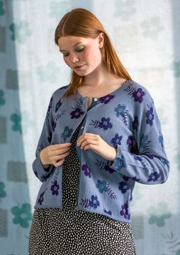 Strickjacke Moringa light indigo
