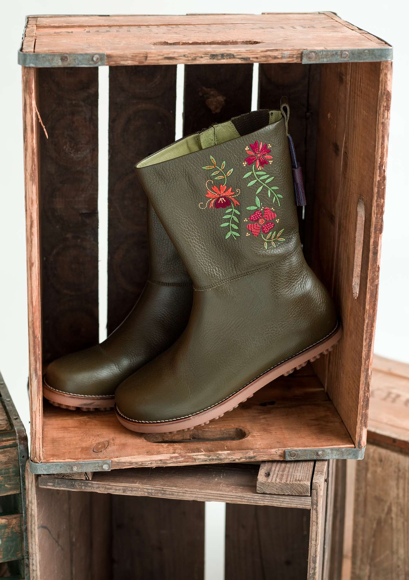 """Artistic"" nappa boots forest green"