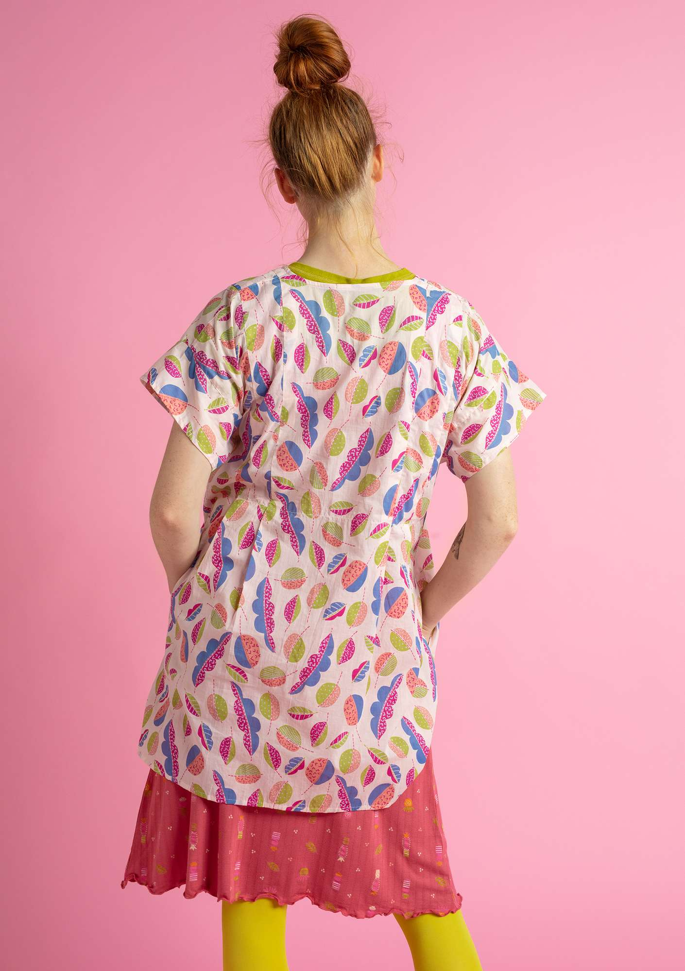 """Pepo"" tunic in eco-cotton light peach"