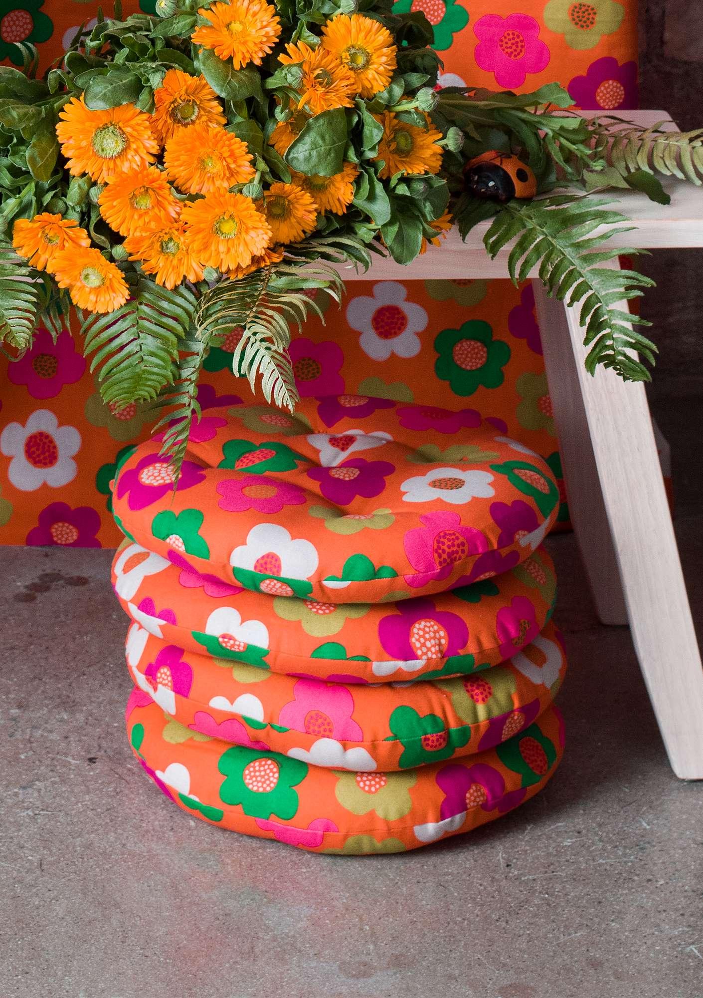 röse daisy organic cotton seat pad gudrun sjödén