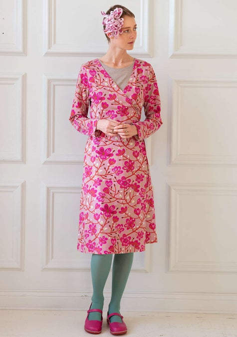 Magnolia dress cerise