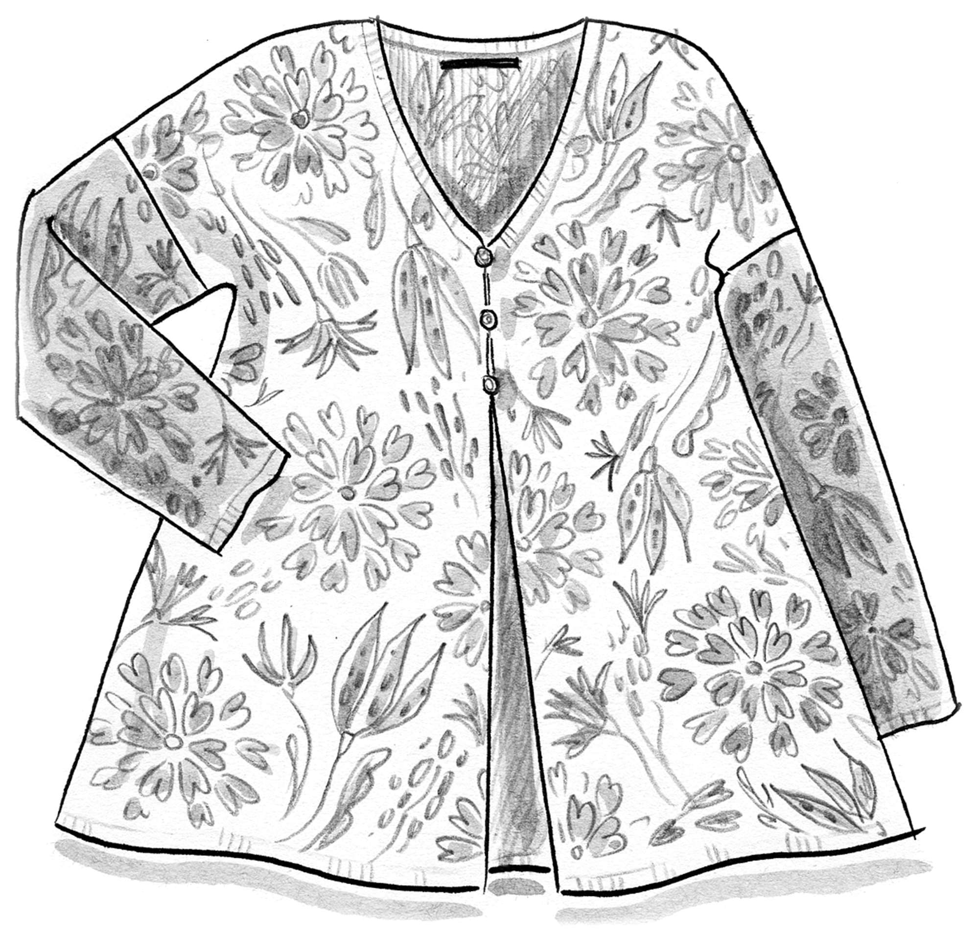 "Printed ""Oas"" cardigan in organic cotton"