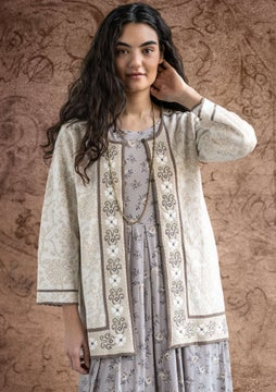 Astrid embroidered cardigan ecru