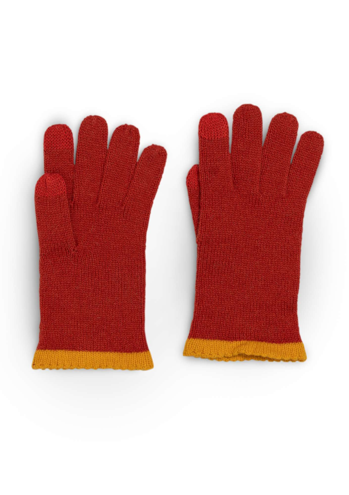 Alpaca blend gloves with touchscreen function copper