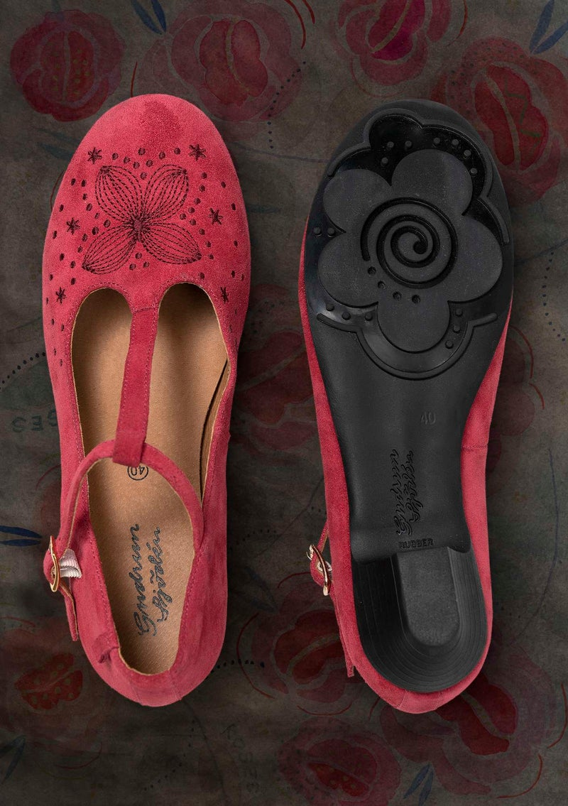 """Felicité"" suede dance shoes dark hibiscus"