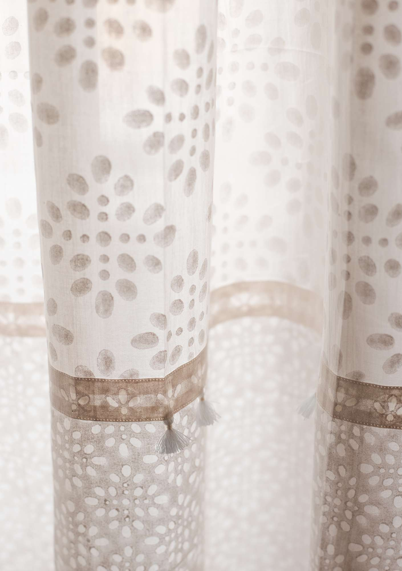 """Amita"" organic cotton curtain offwhite"