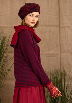 Cashmere sweater lake/cranberry