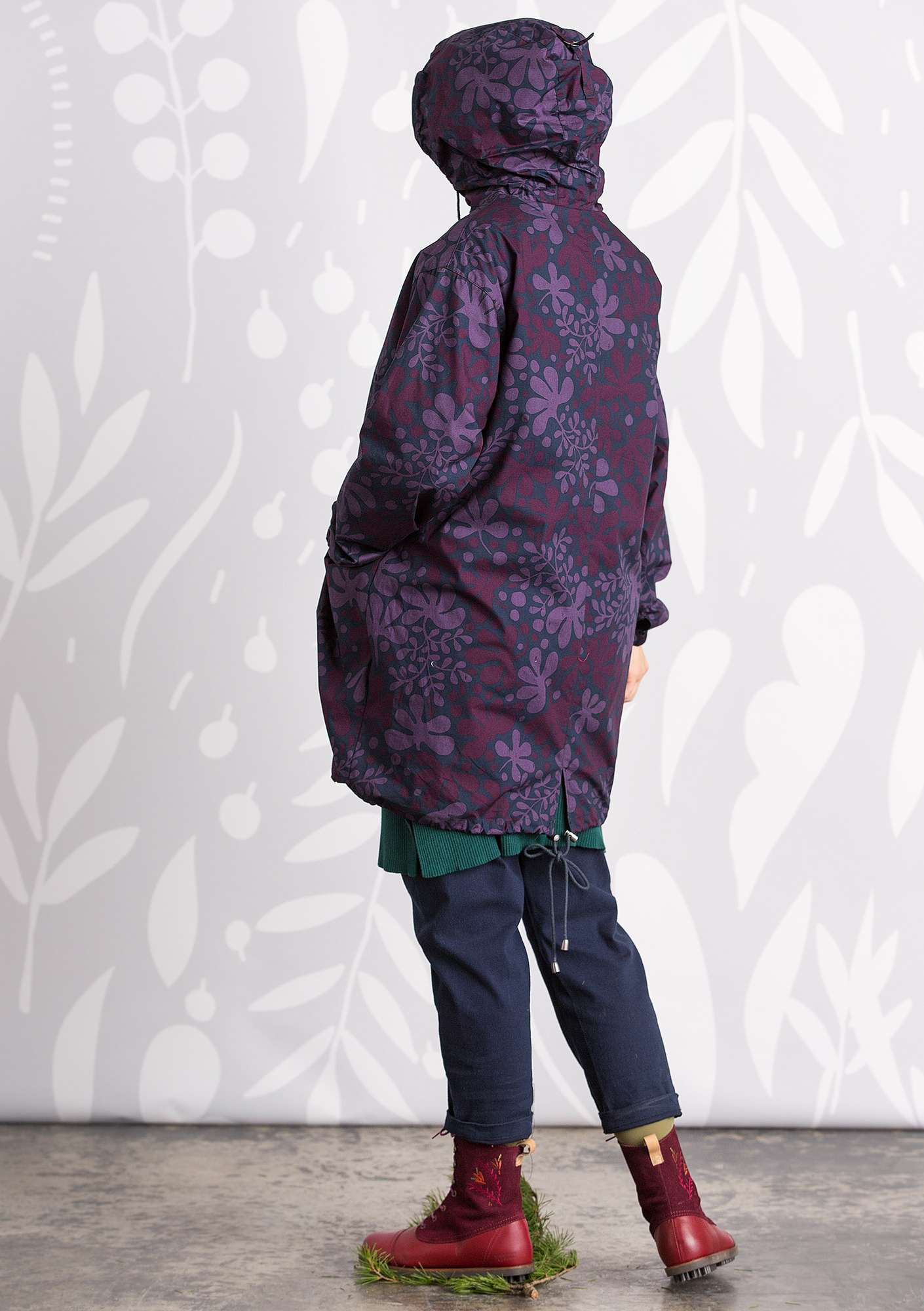 Multi parka blackberry/print