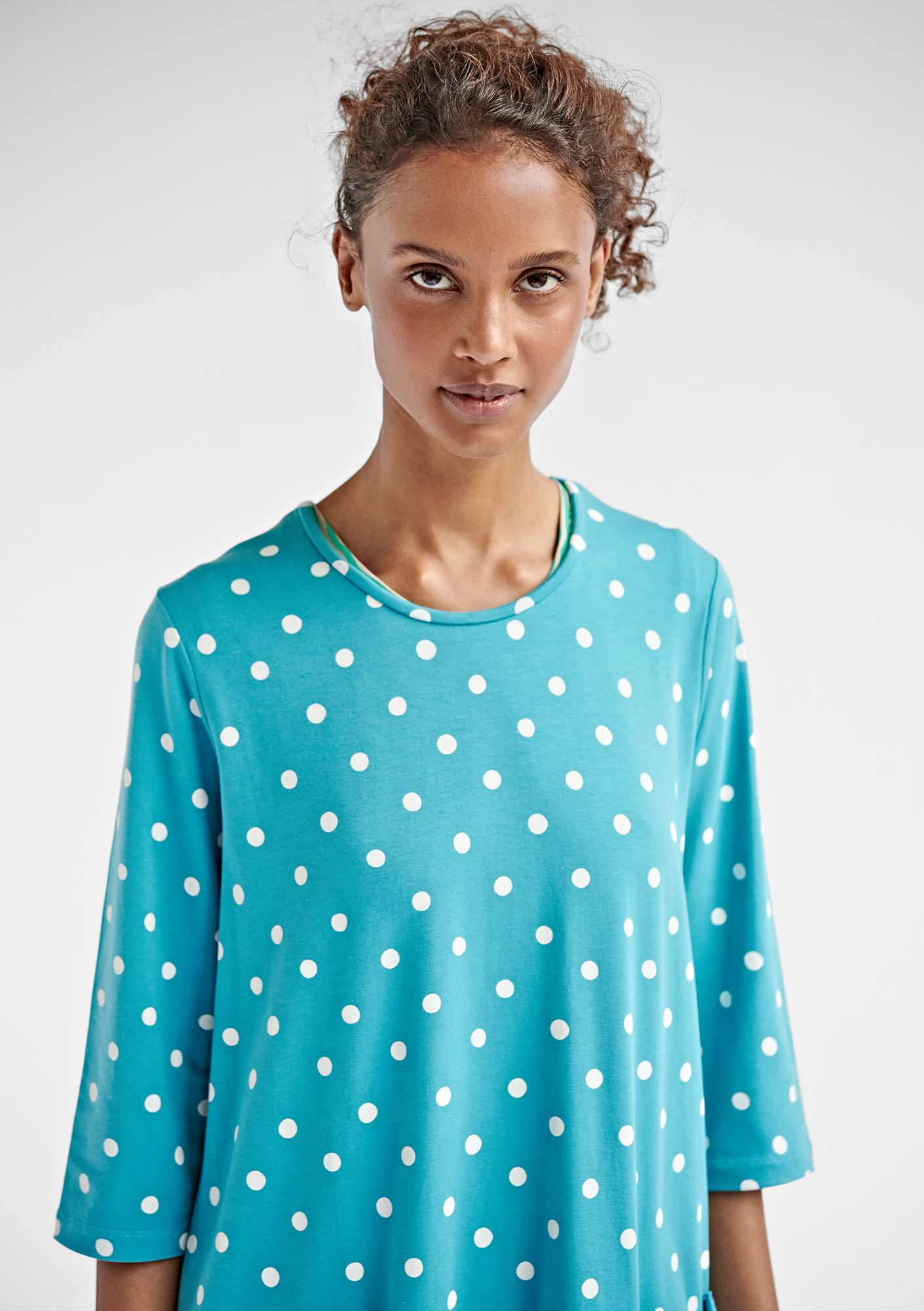 5e3697f4e5 DOT dress in modal/organic cotton/elastane turquoise/patterned