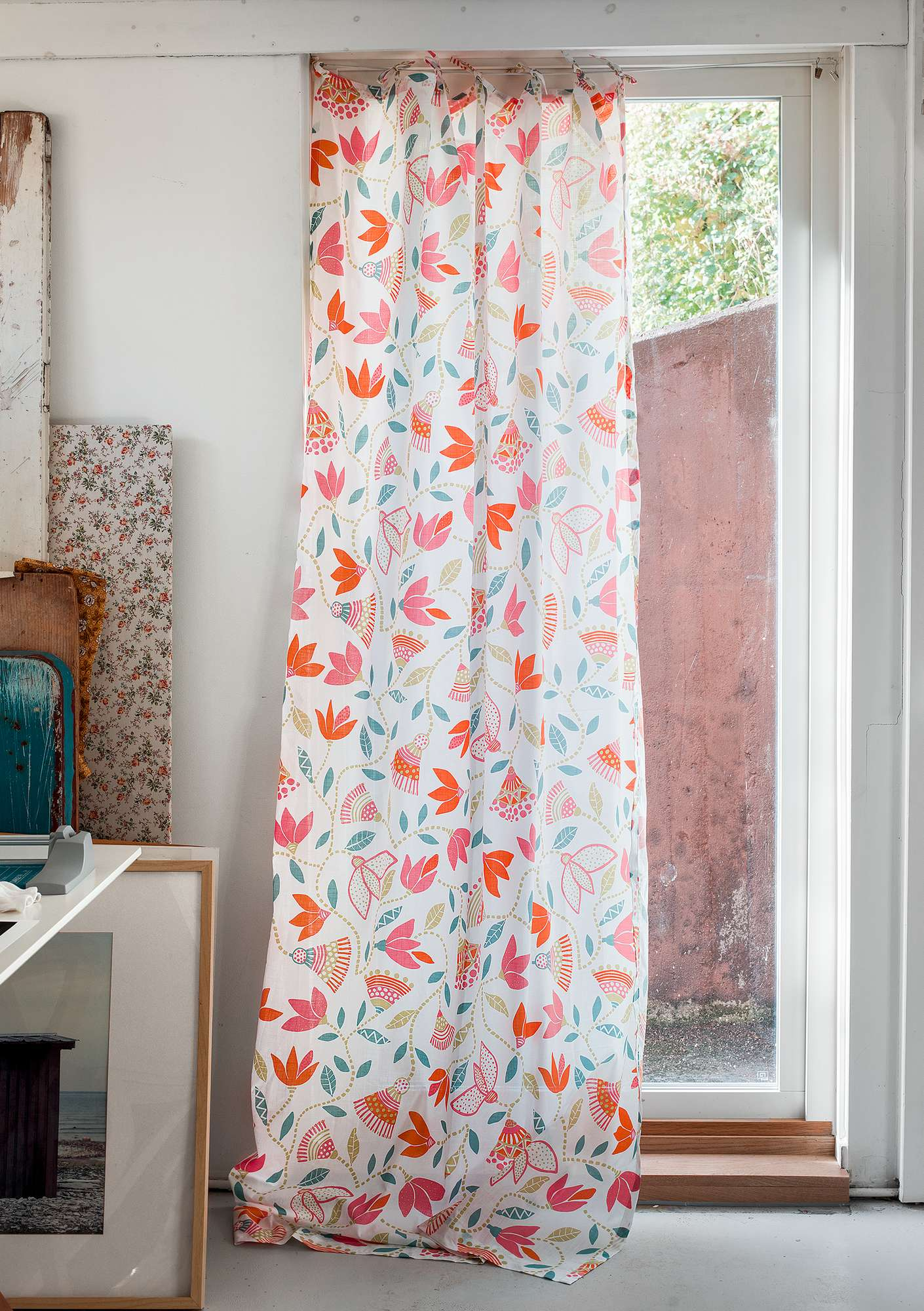 """Artemis"" cotton curtain kiwi"