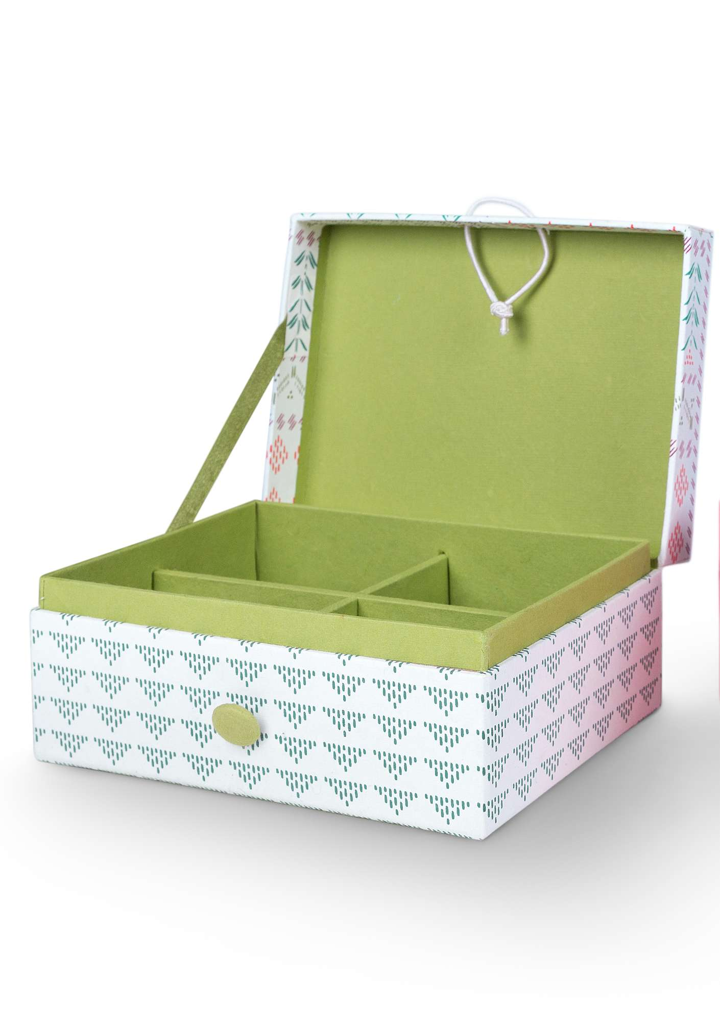 """Karolina"" jewelry box in recycled paper unbleached"