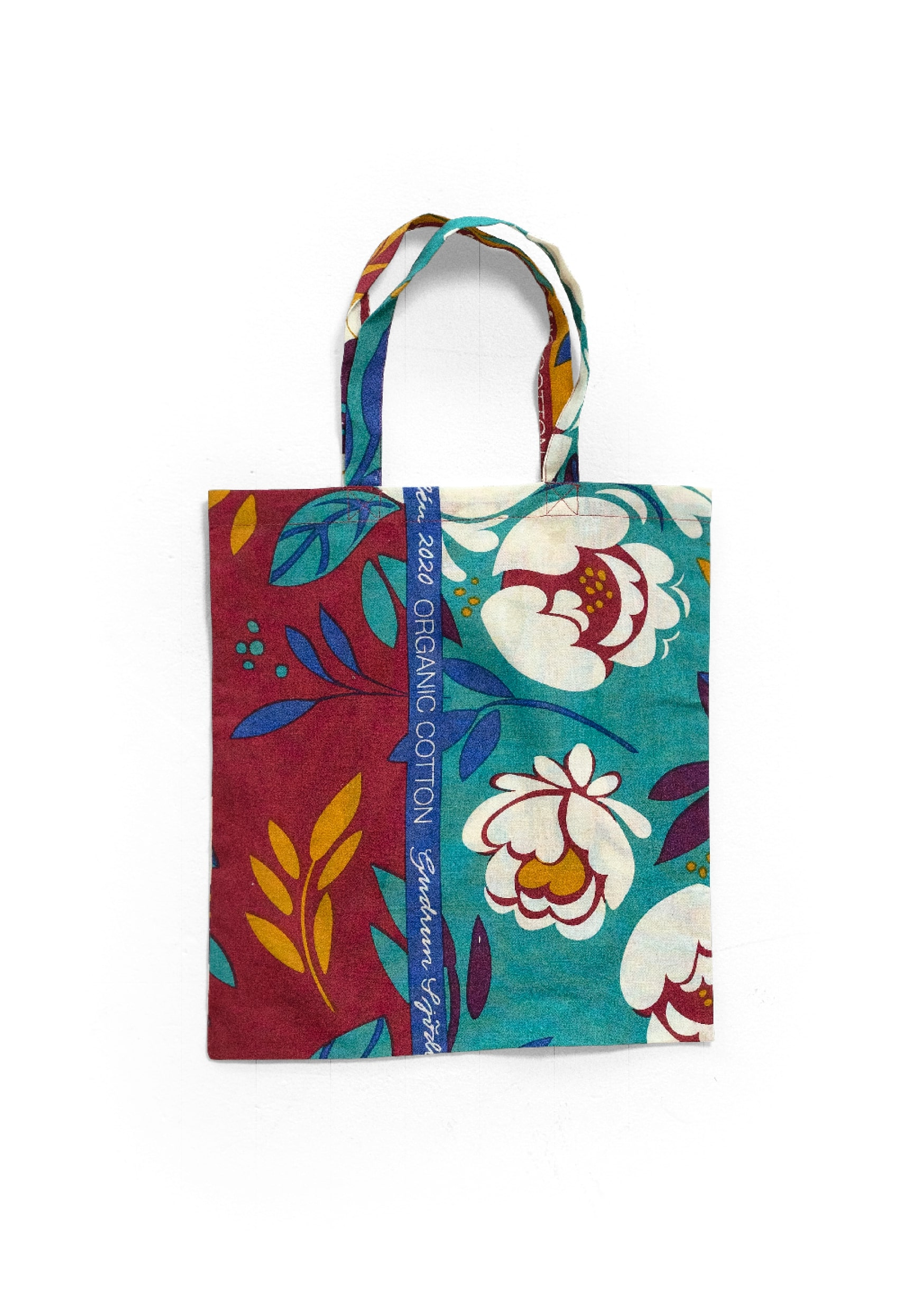 Fabric tote bag S poppy