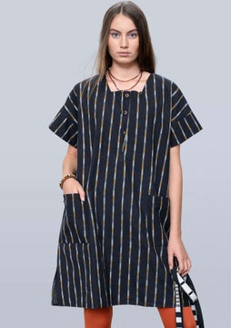 Ikat dress black