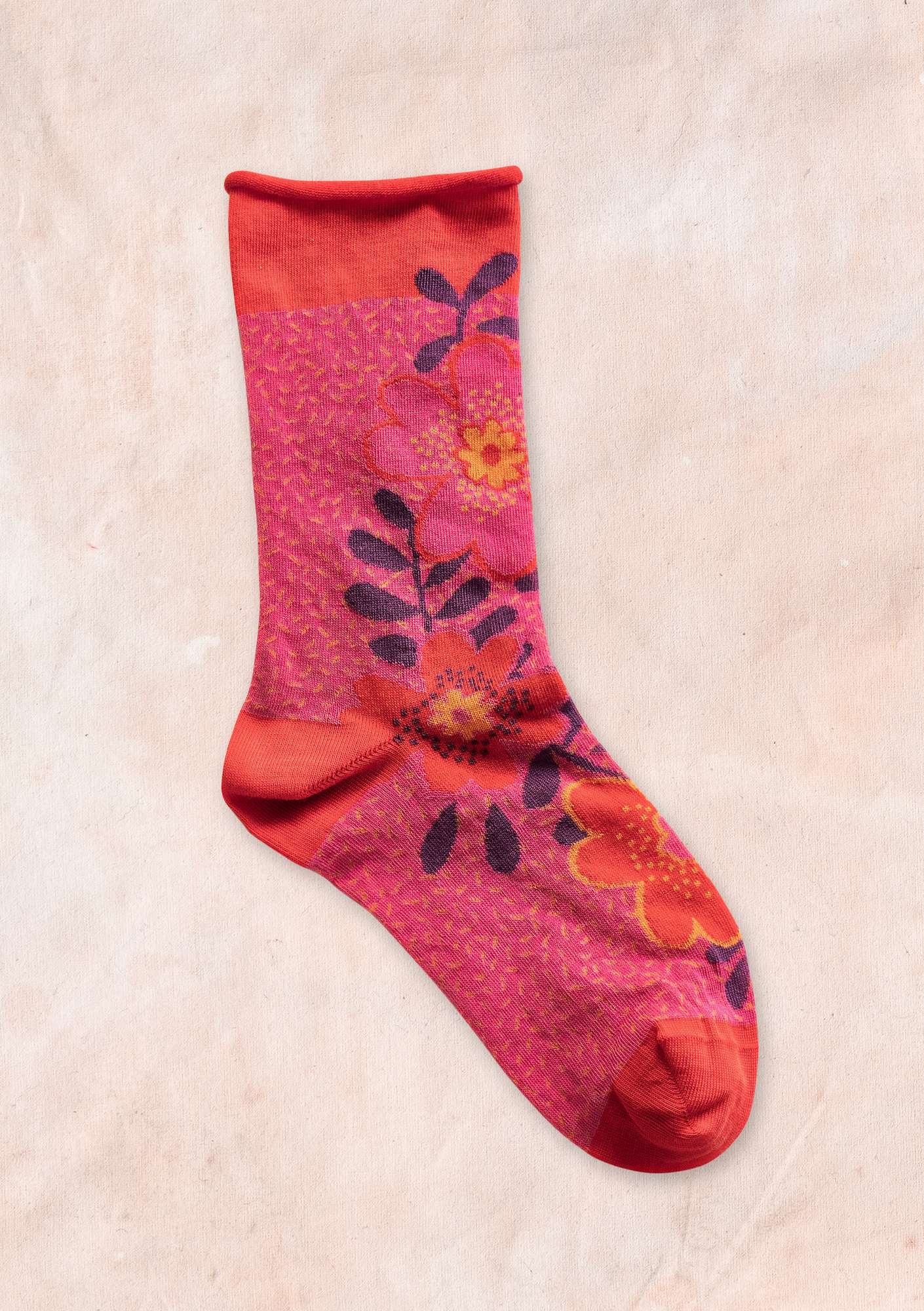 """Lily"" organic cotton socks bright red"