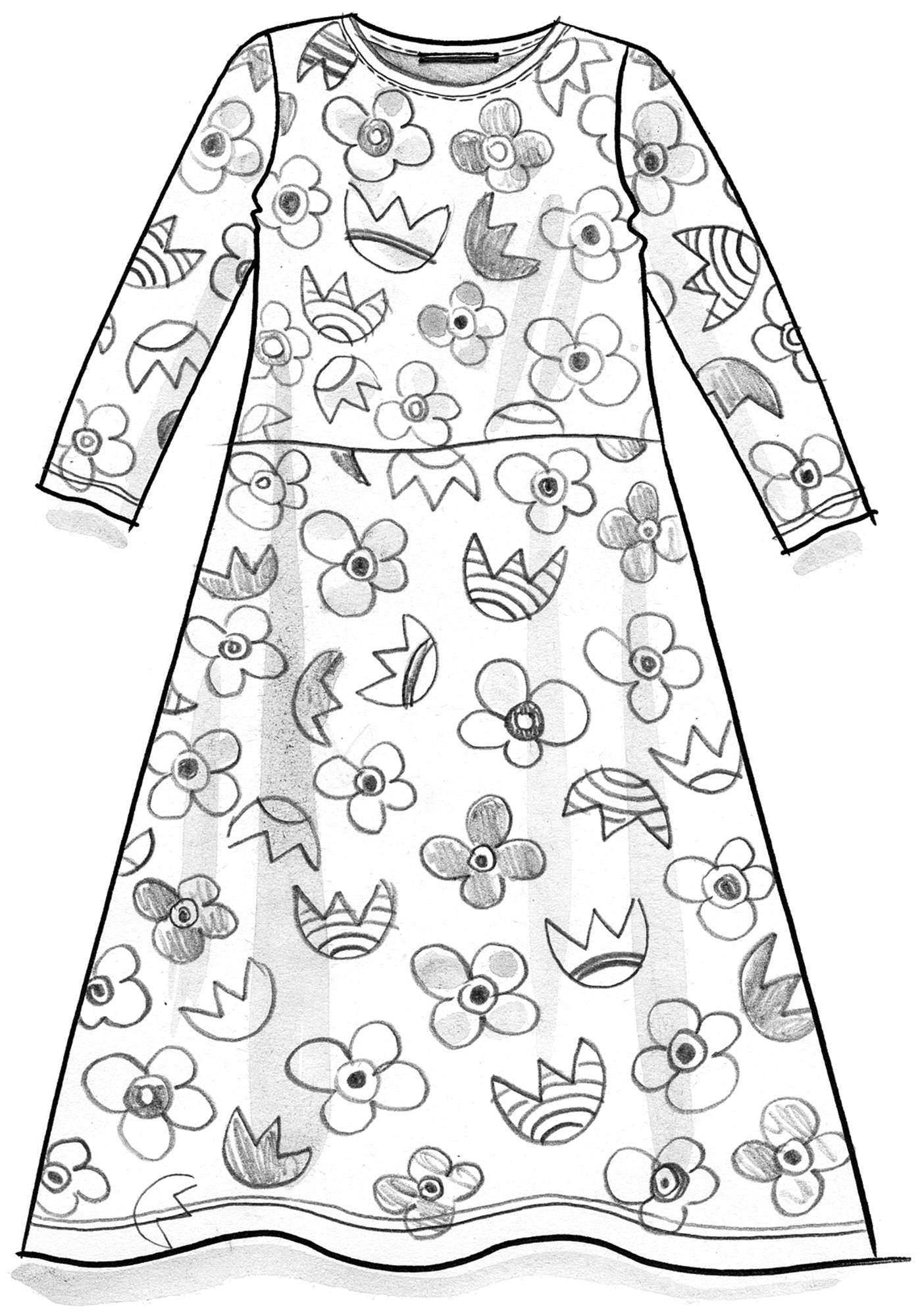 """Blomster"" dress in eco-cotton/modal"