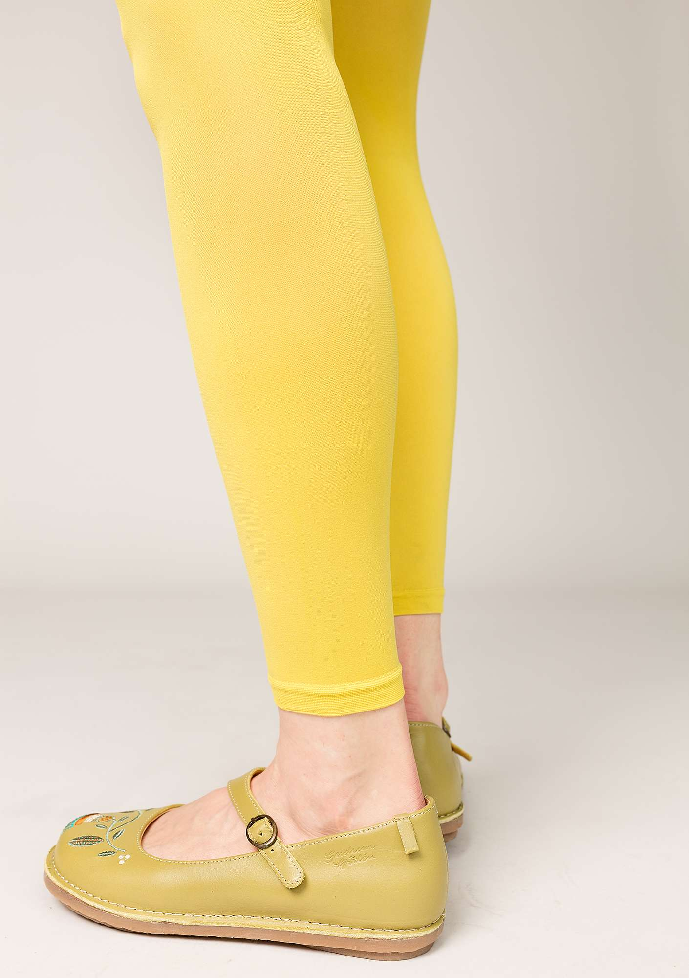 Leggings in recycled polyamide dijon