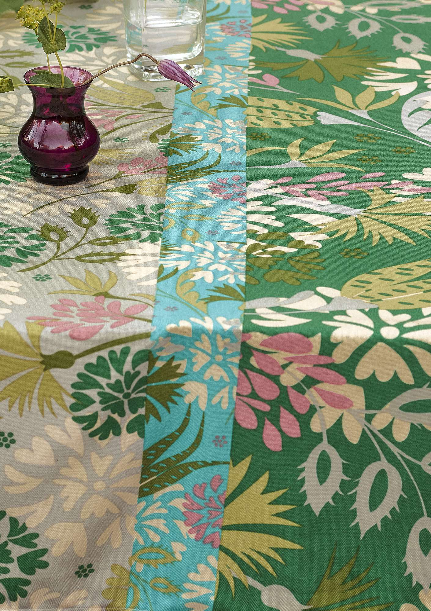 """Fiesta"" organic cotton fabric basil"