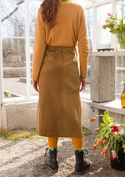 Corduroy skirt brass