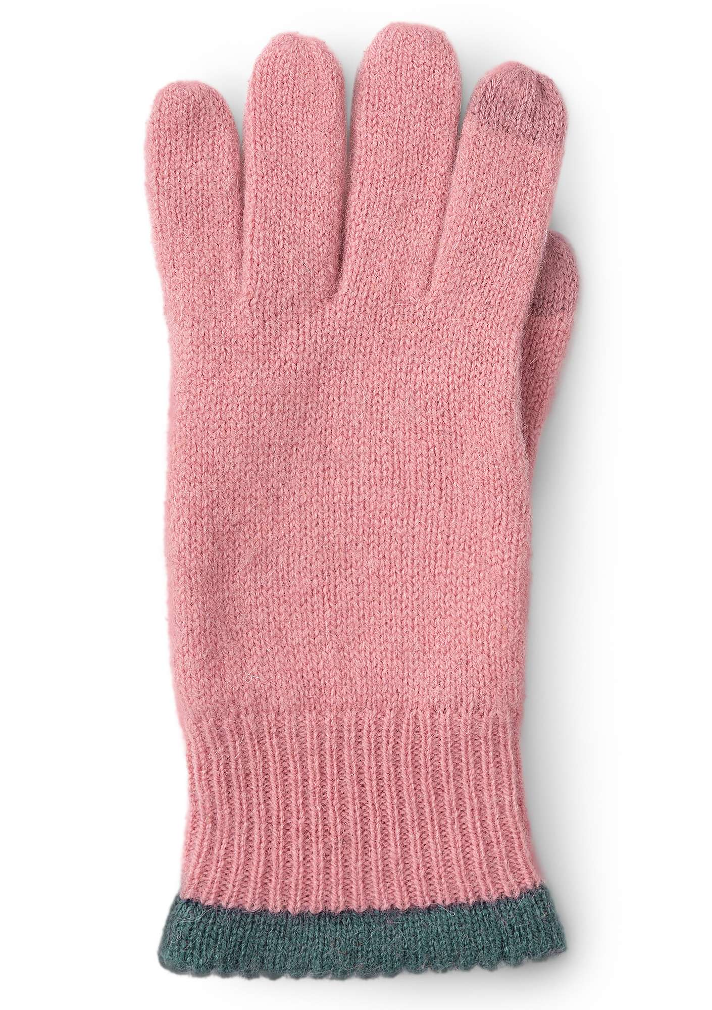 Alpaca blend gloves with touchscreen function powder pink
