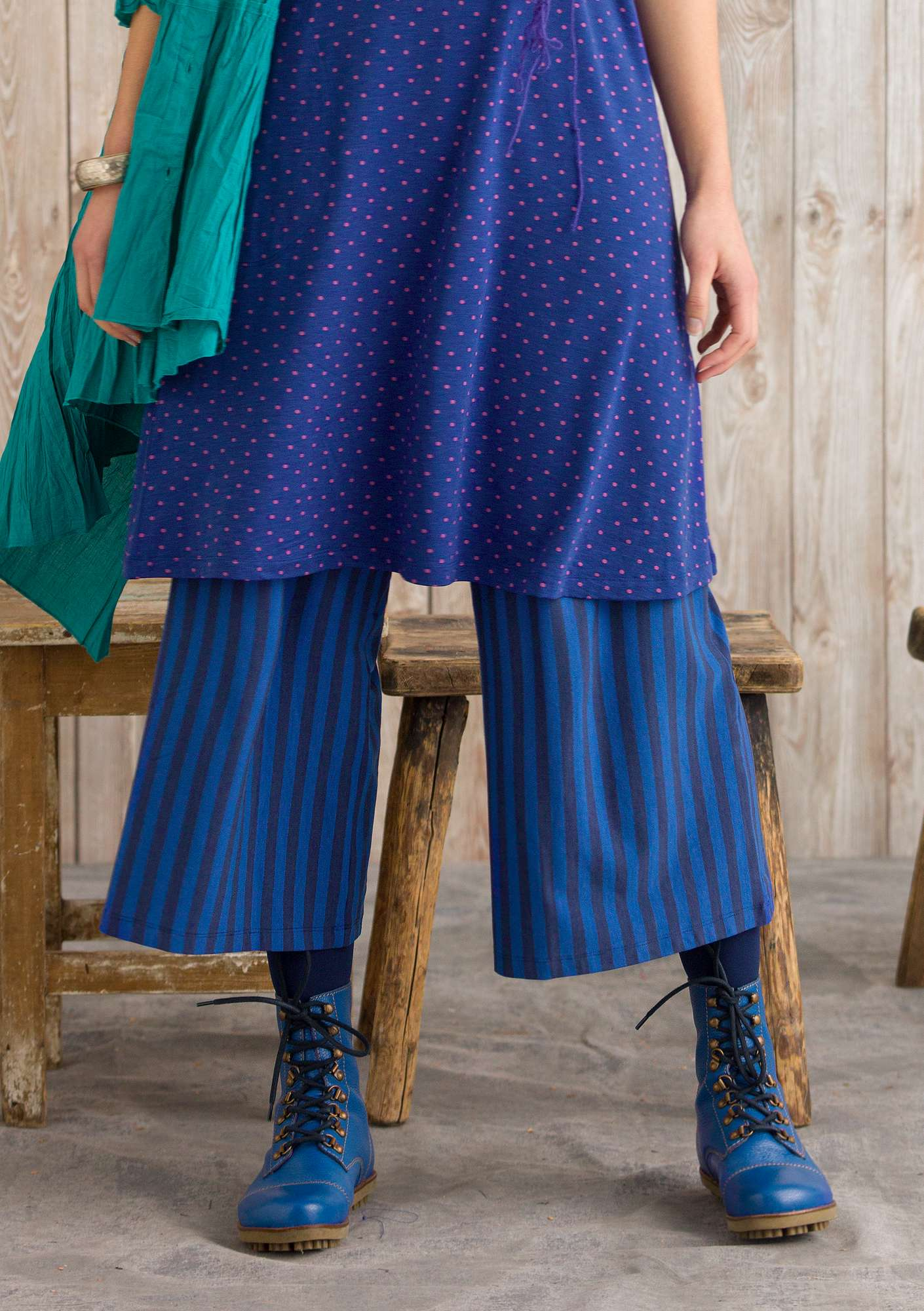 Pantalon Rayé midnight blue/cobalt blue