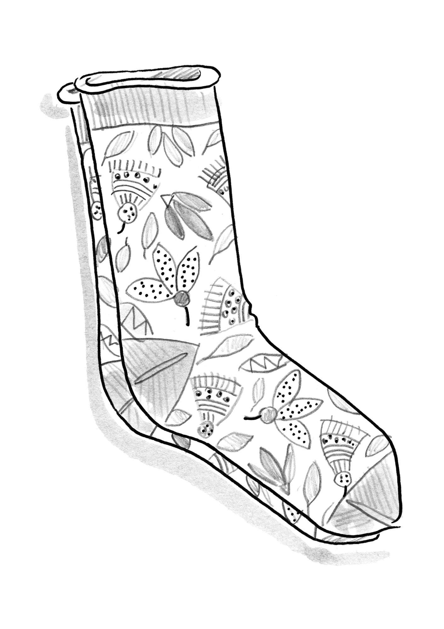 """Artemis"" organic cotton socks black"