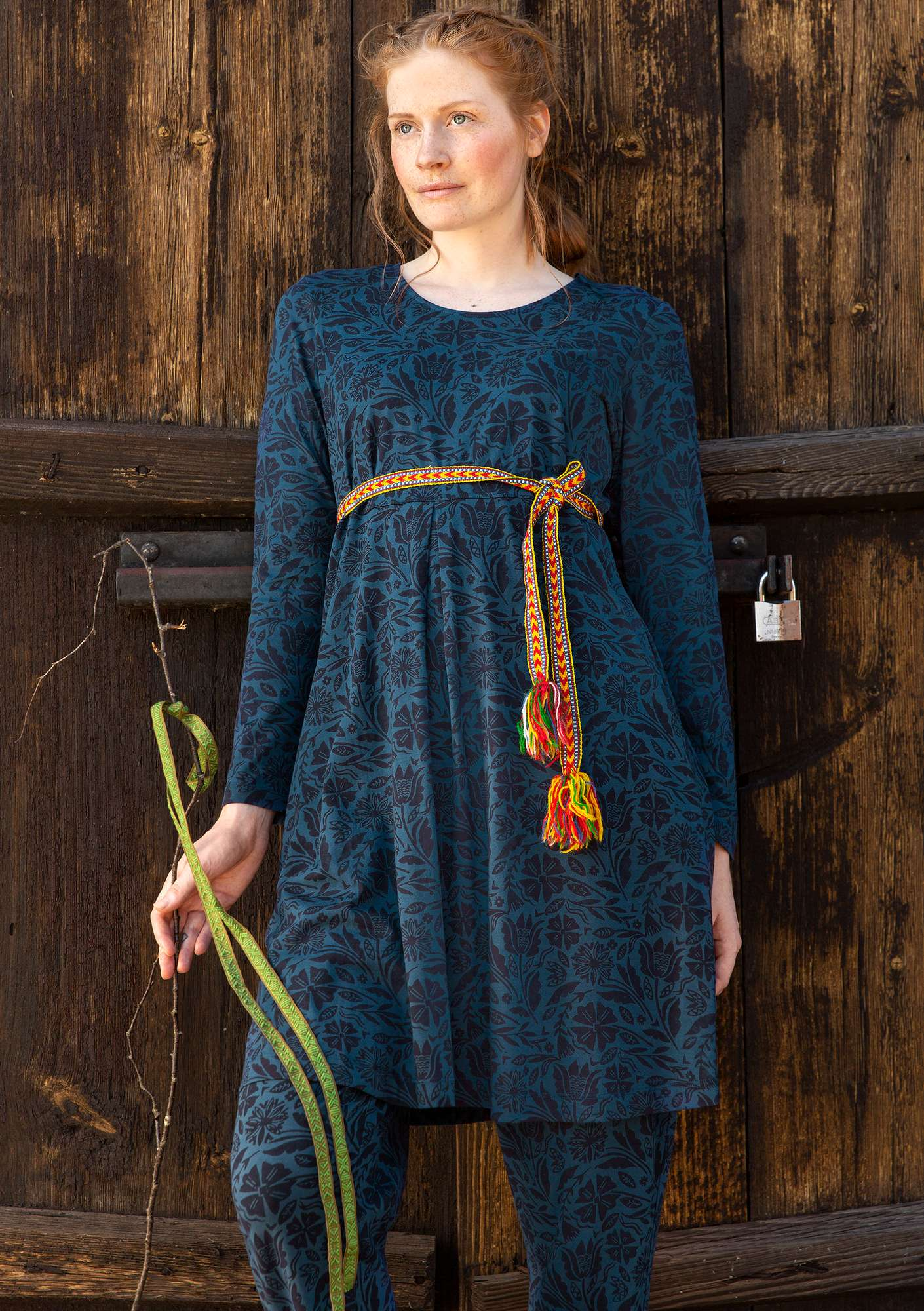"""Amber"" organic cotton tunic indigo"