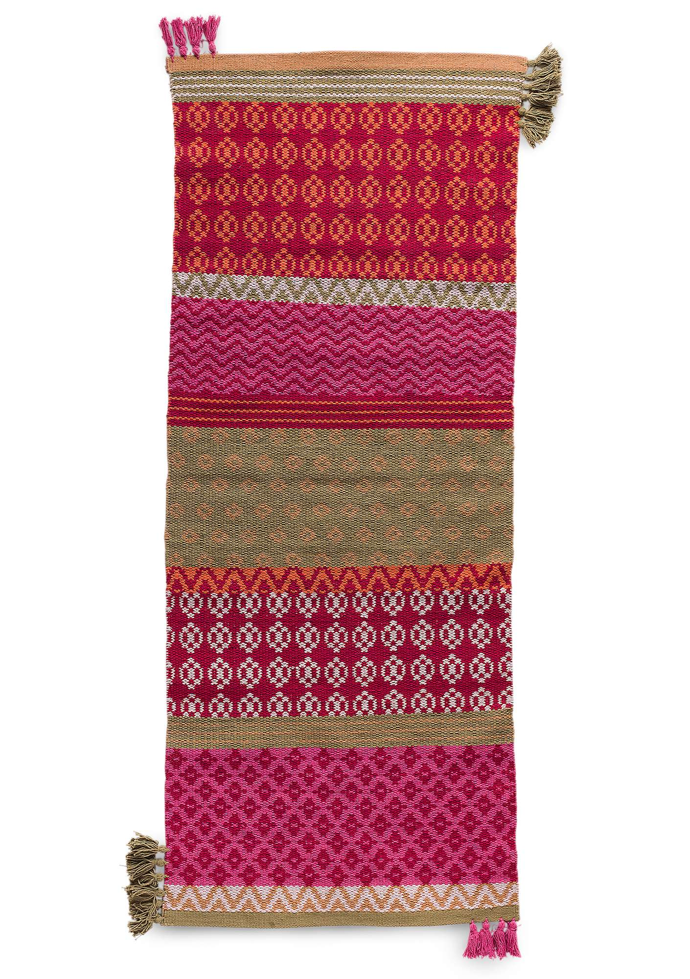 """Boda"" eco-cotton rug multi-color"