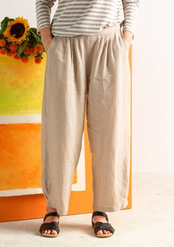 Pantalon en lin natural