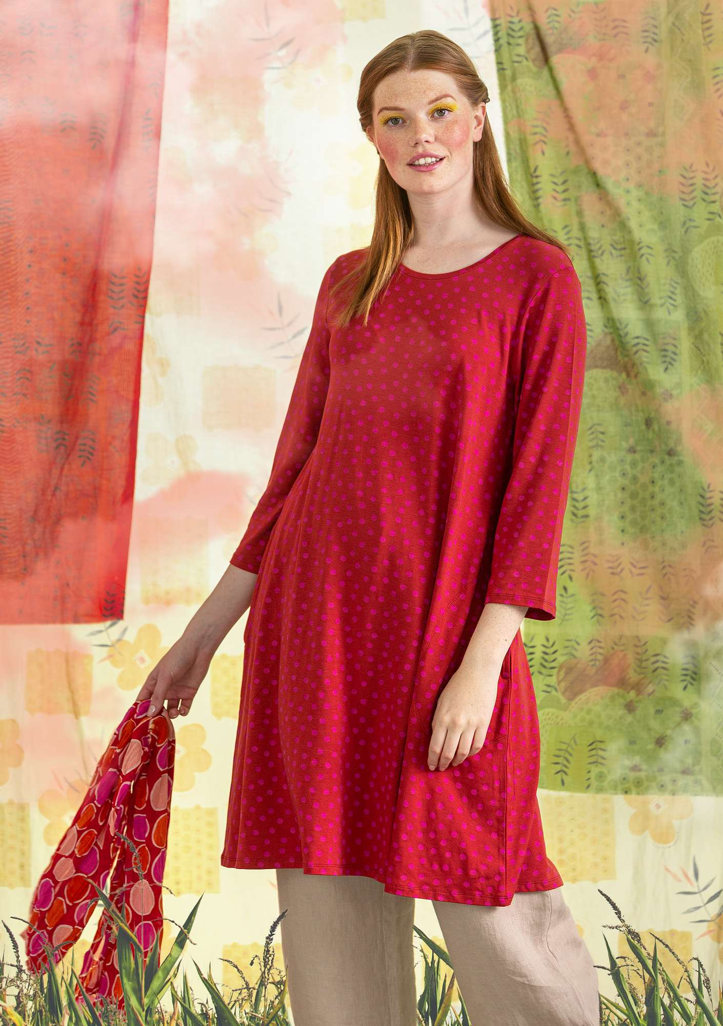 Tricot tuniek Stella madder red