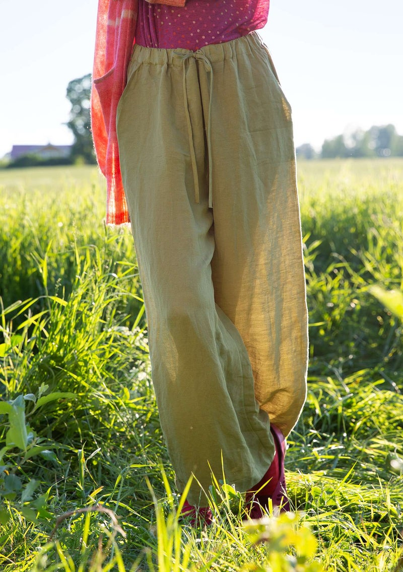 Trousers in linen/modal timothy