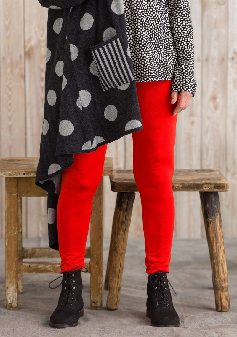 """Pytte"" lyocell/elastane leggings lava red"