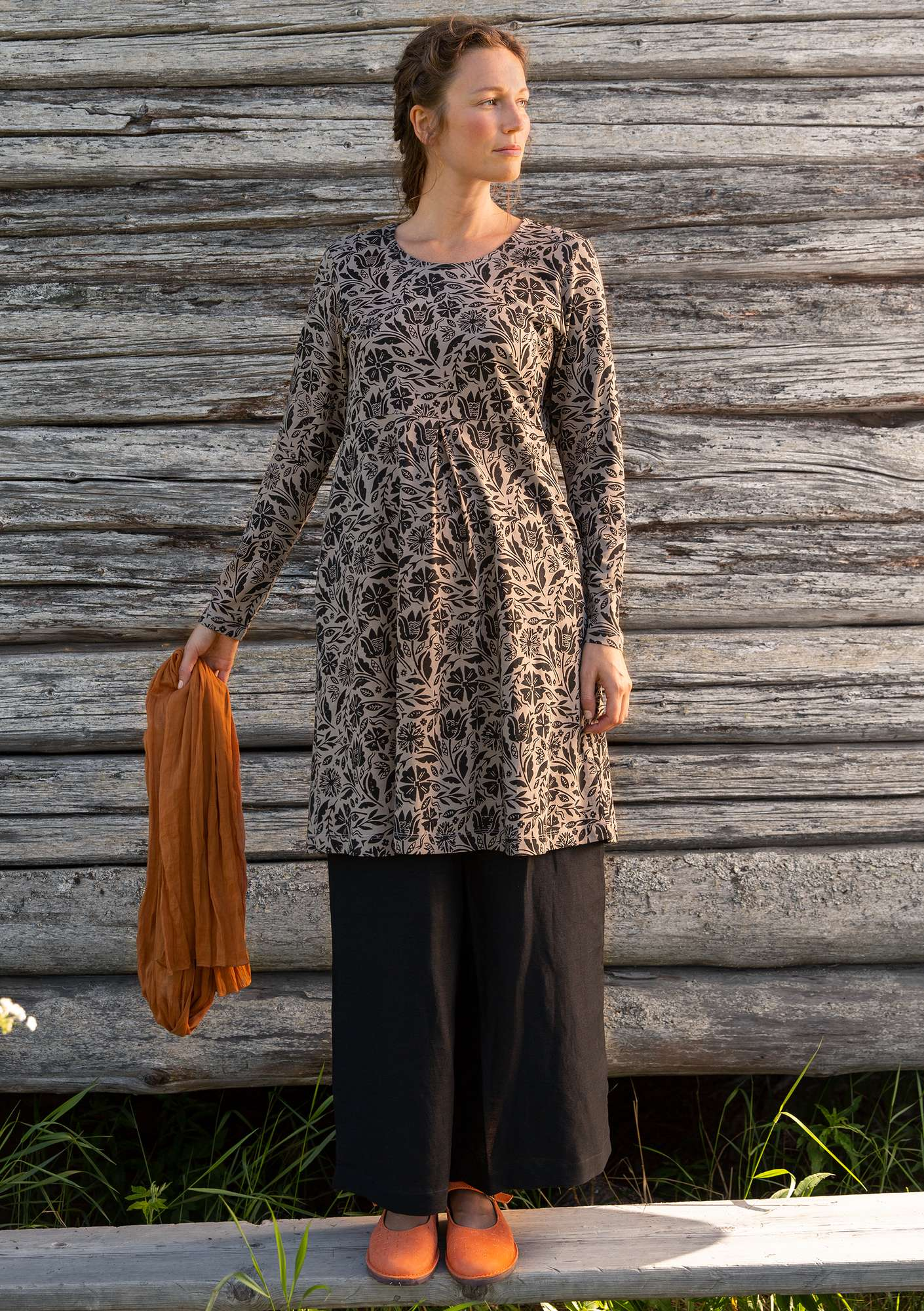 """Amber"" organic cotton tunic light potato"