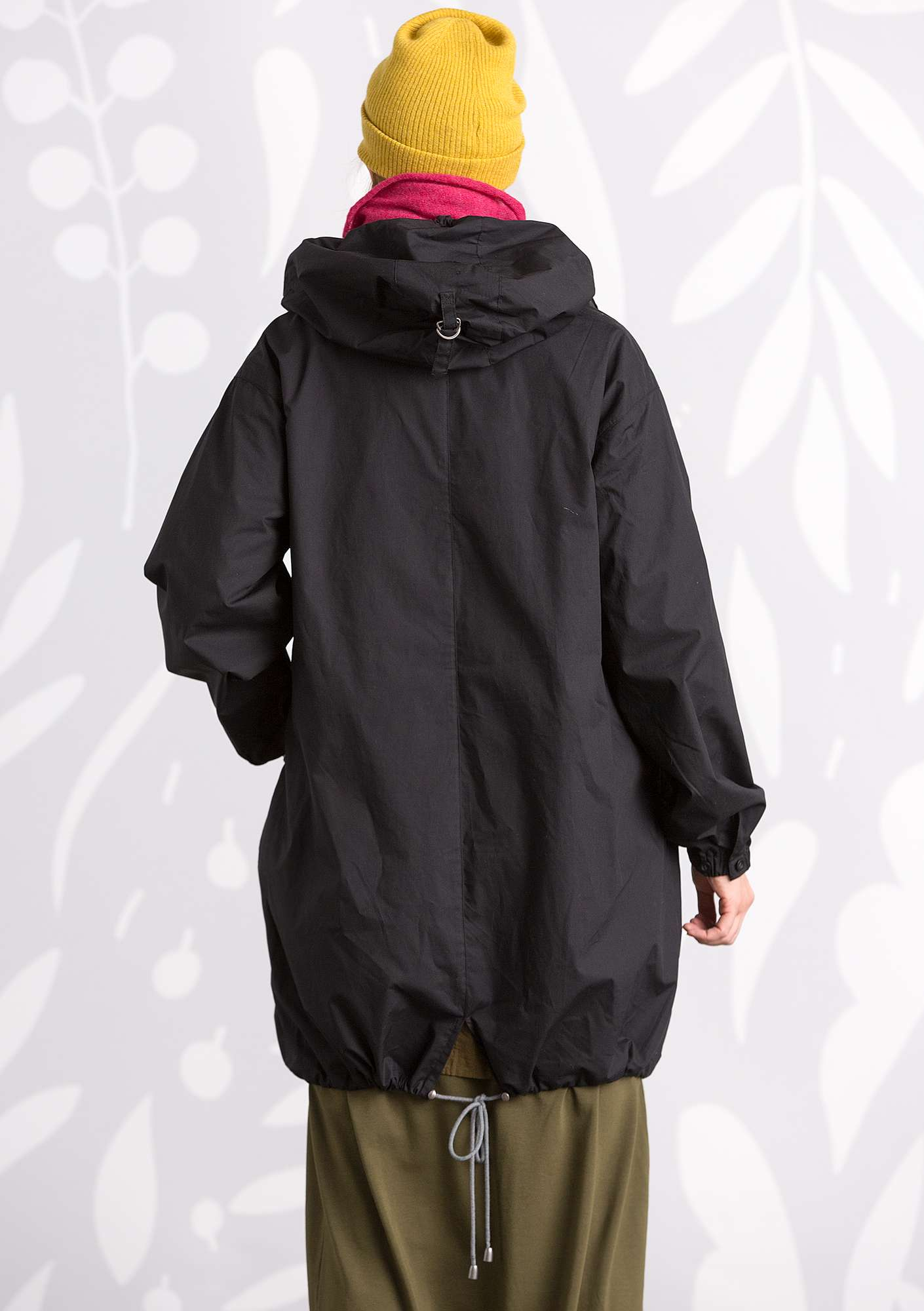 """Multi"" parka in eco-cotton black"