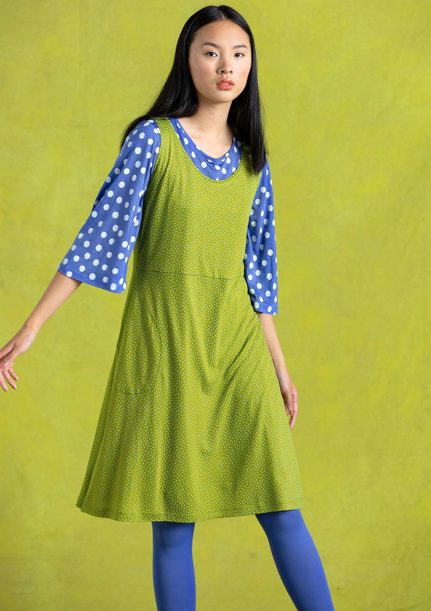 Judit dress asparagus