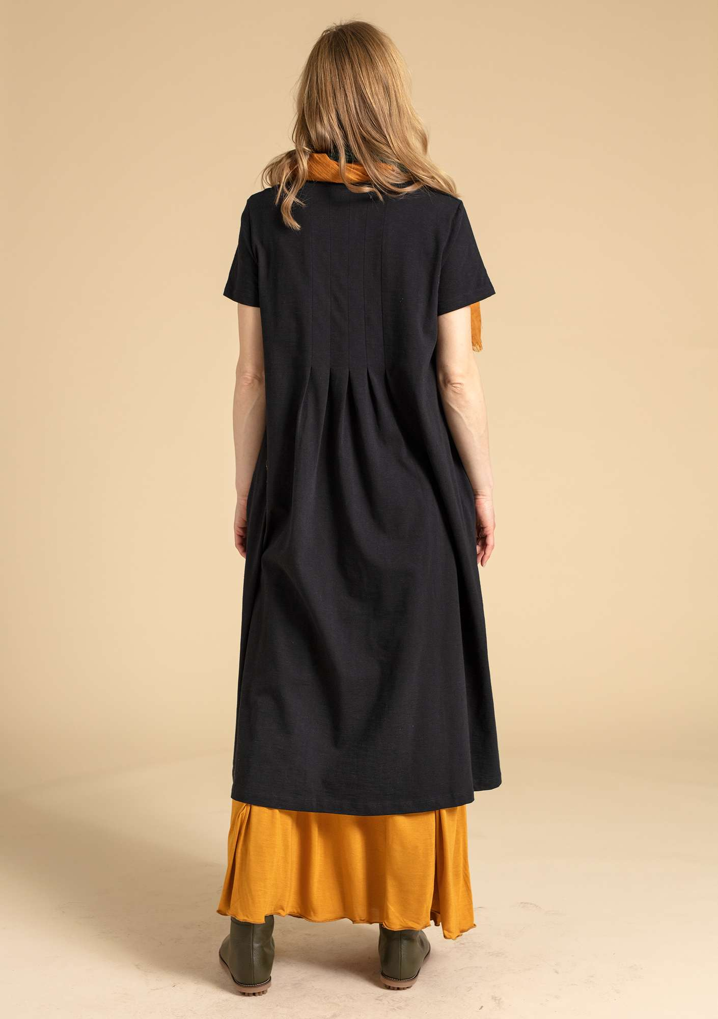 """Livia"" dress in eco-cotton black"
