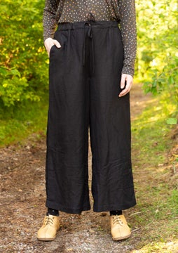 Solid-colour trousers black