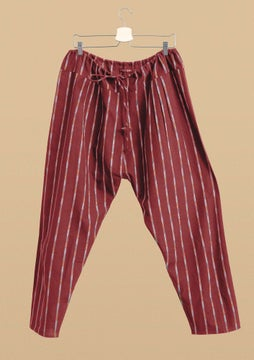 Pantalon Ikat madder red