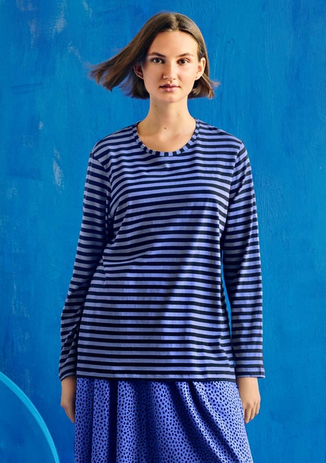 Striped top midnight blue/lavender