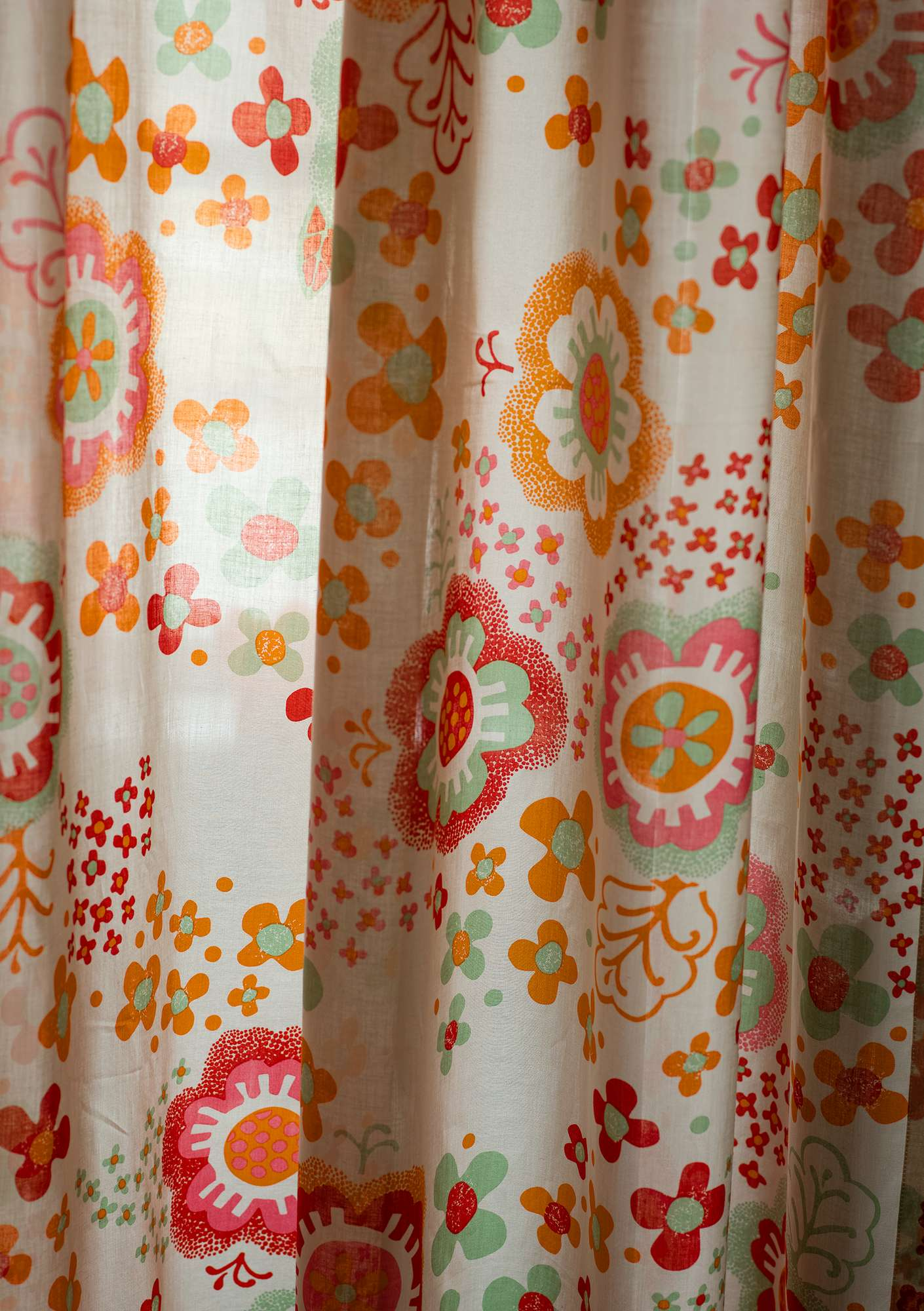 """Lizzie"" organic cotton curtains copper"