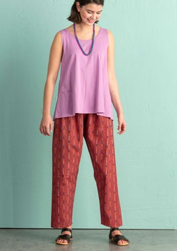 Ikat trousers madder red