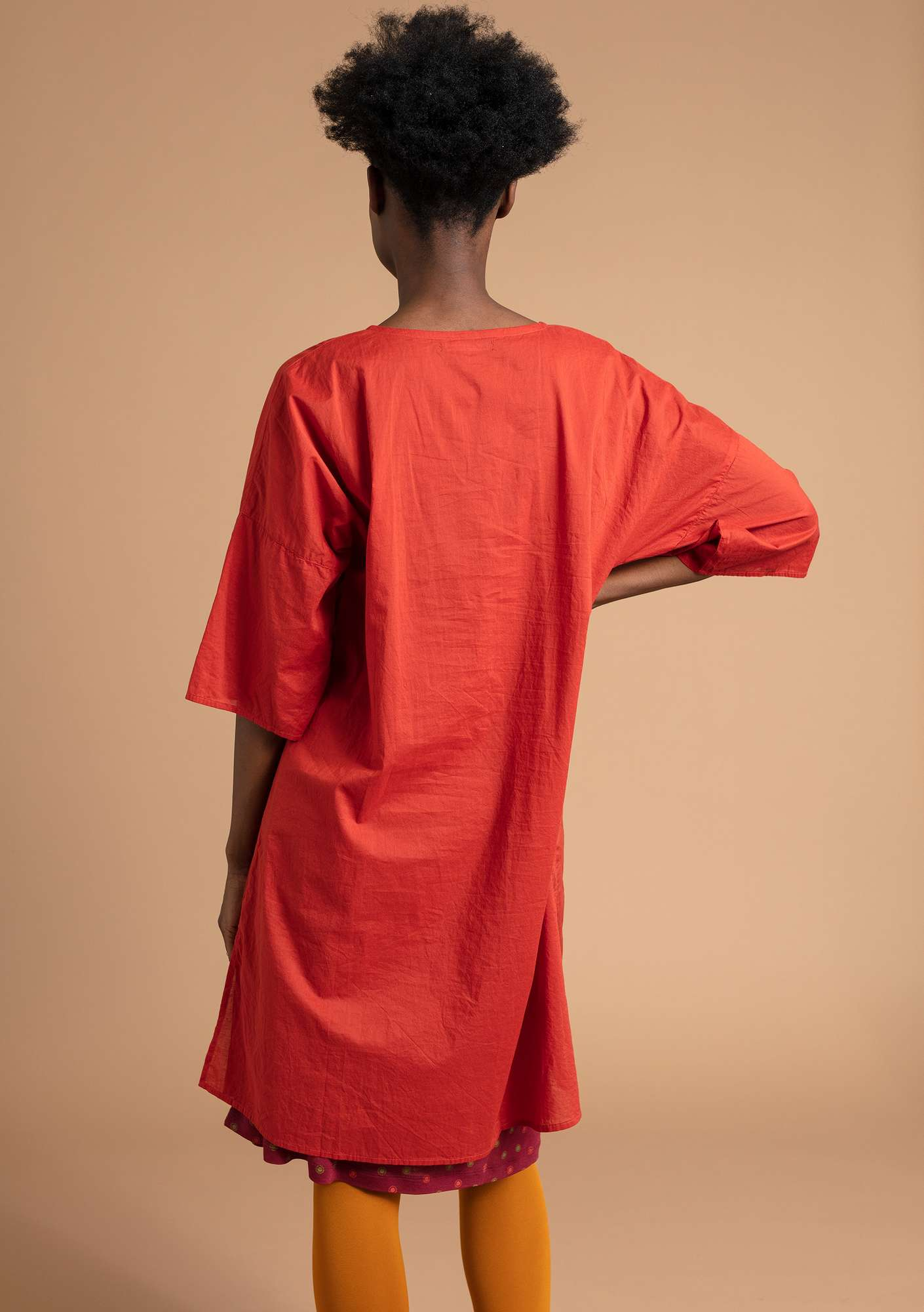 """Rigmor"" dress in eco-cotton copper"