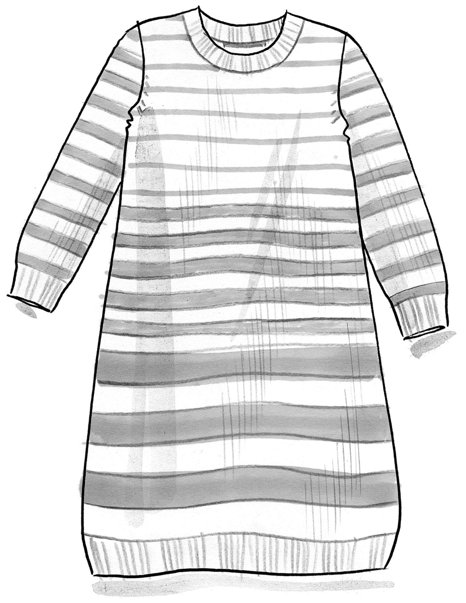 Striped tunic in recycled cotton
