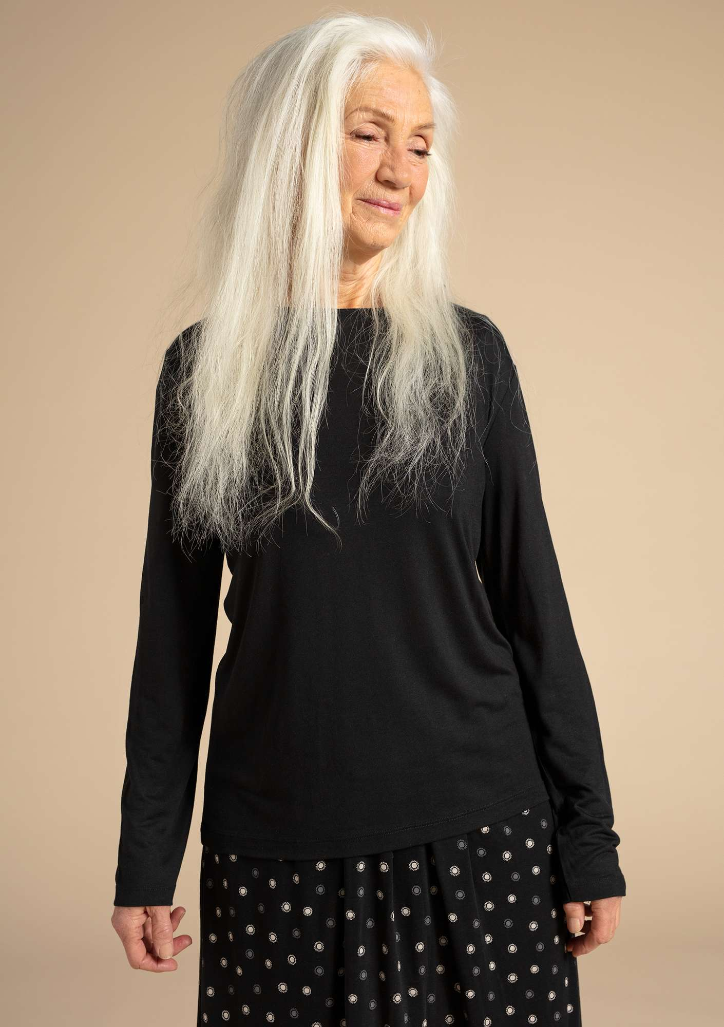 """Twinkle"" top in modal black"