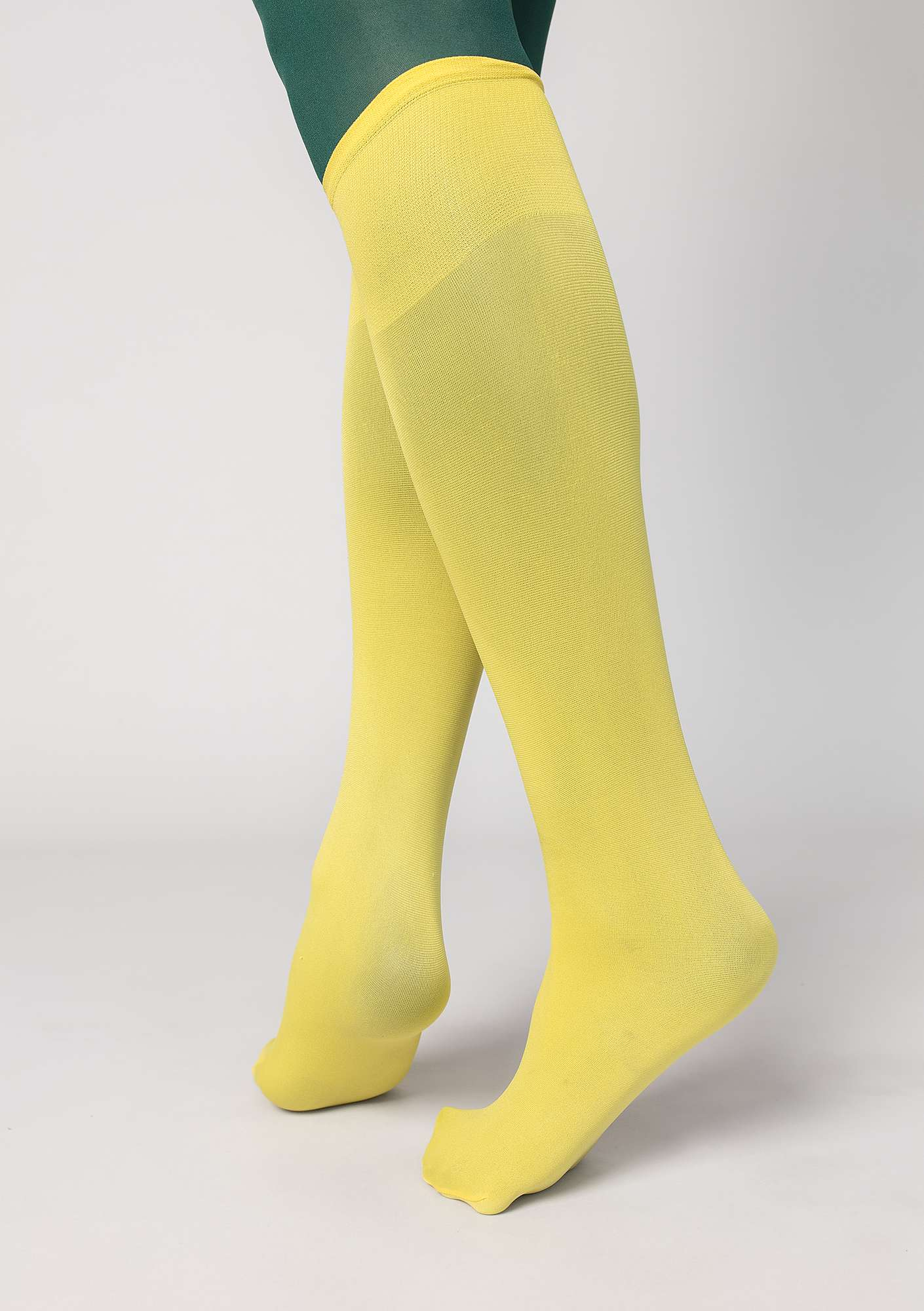 Solid-colour knee-highs
