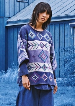 Berber sweater violet