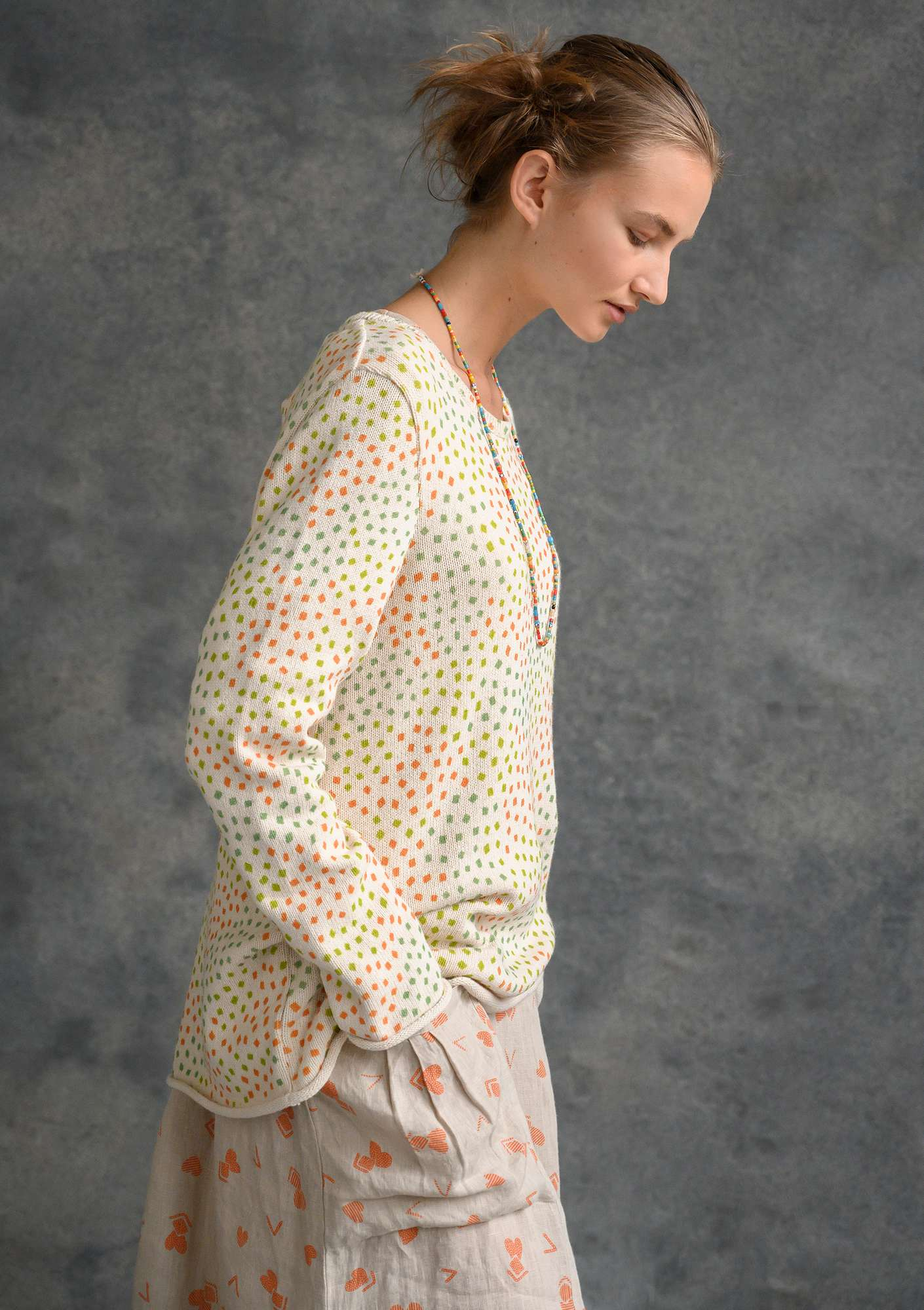 "FAVOURITE sweater ""Confetti"" made of recycled cotton multicoloured"