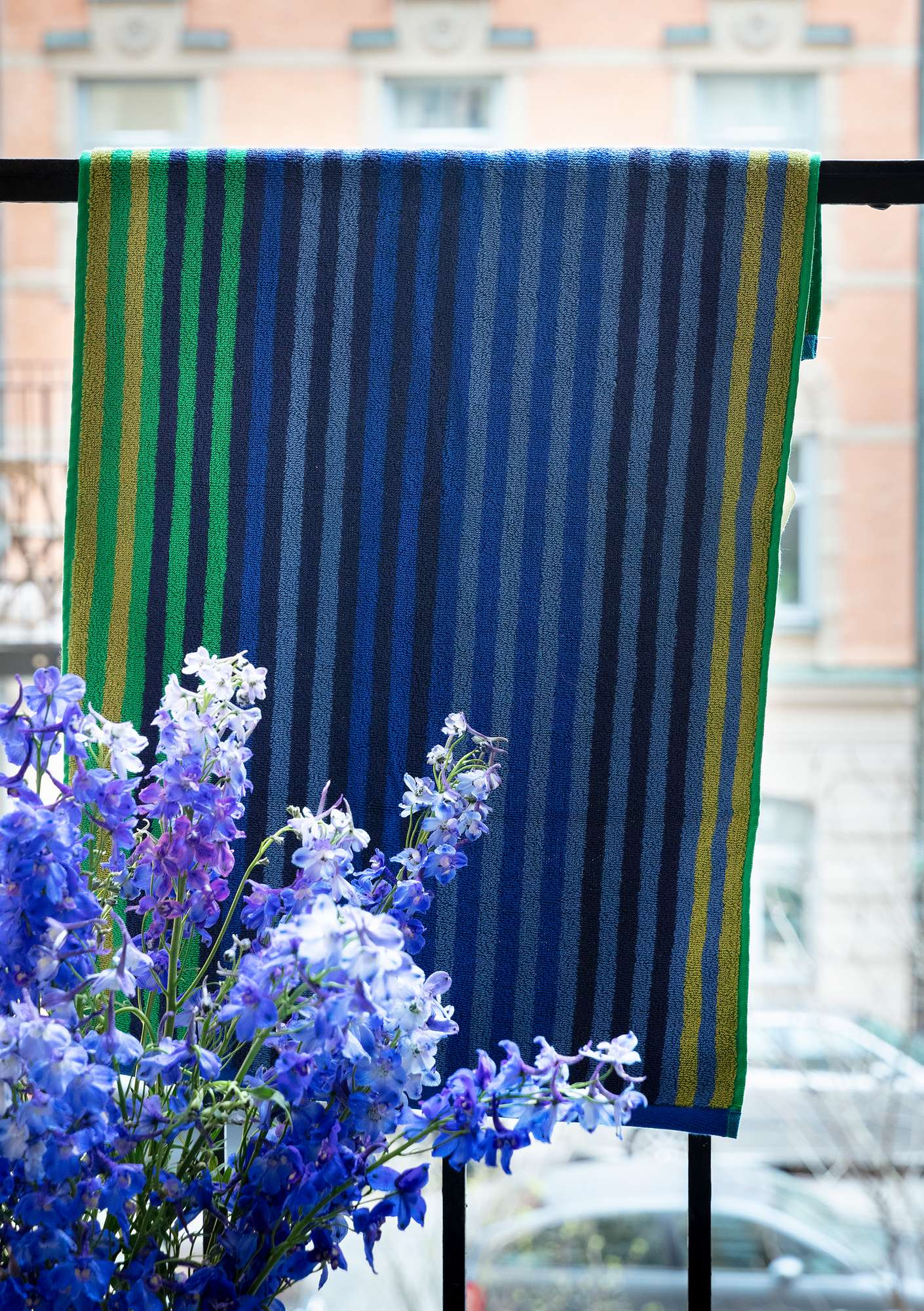 """Multi"" organic cotton towel cornflower blue"