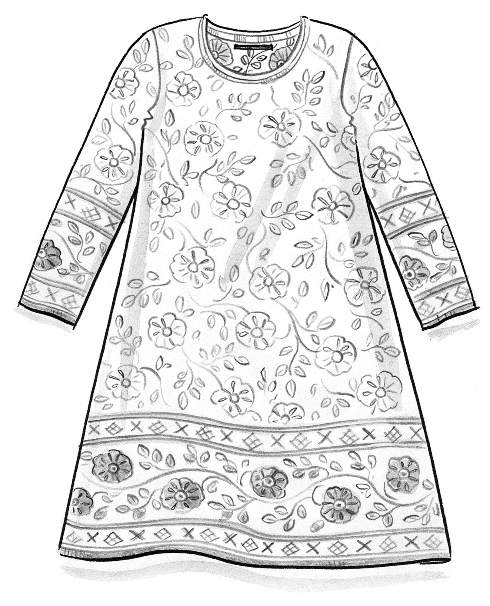 """Lace"" jacquard tunic made of organic cotton"